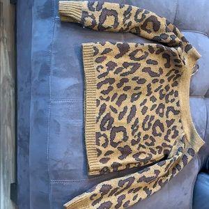 Sweaters - Cheetah print sweater